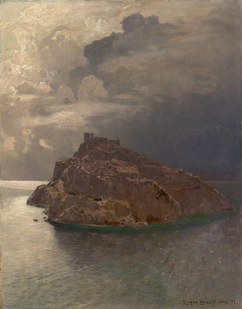 Eugen Bracht Bergeggi Adası, Kanvas Tablo, Eugen Bracht, kanvas tablo, canvas print sales
