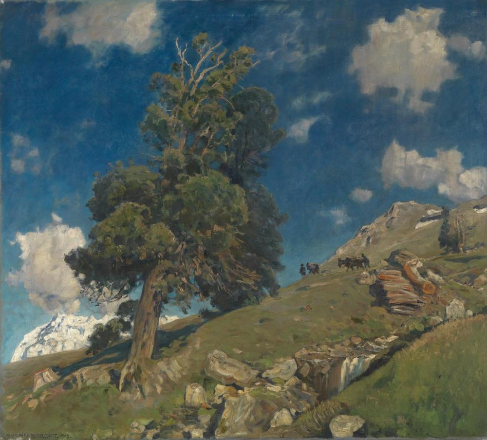 Eugen Bracht Monte Rosa ve Arven, Kanvas Tablo, Eugen Bracht, kanvas tablo, canvas print sales