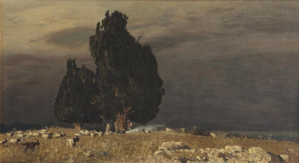 Eugen Bracht Hannibals Grab, Canvas, Eugen Bracht, kanvas tablo, canvas print sales