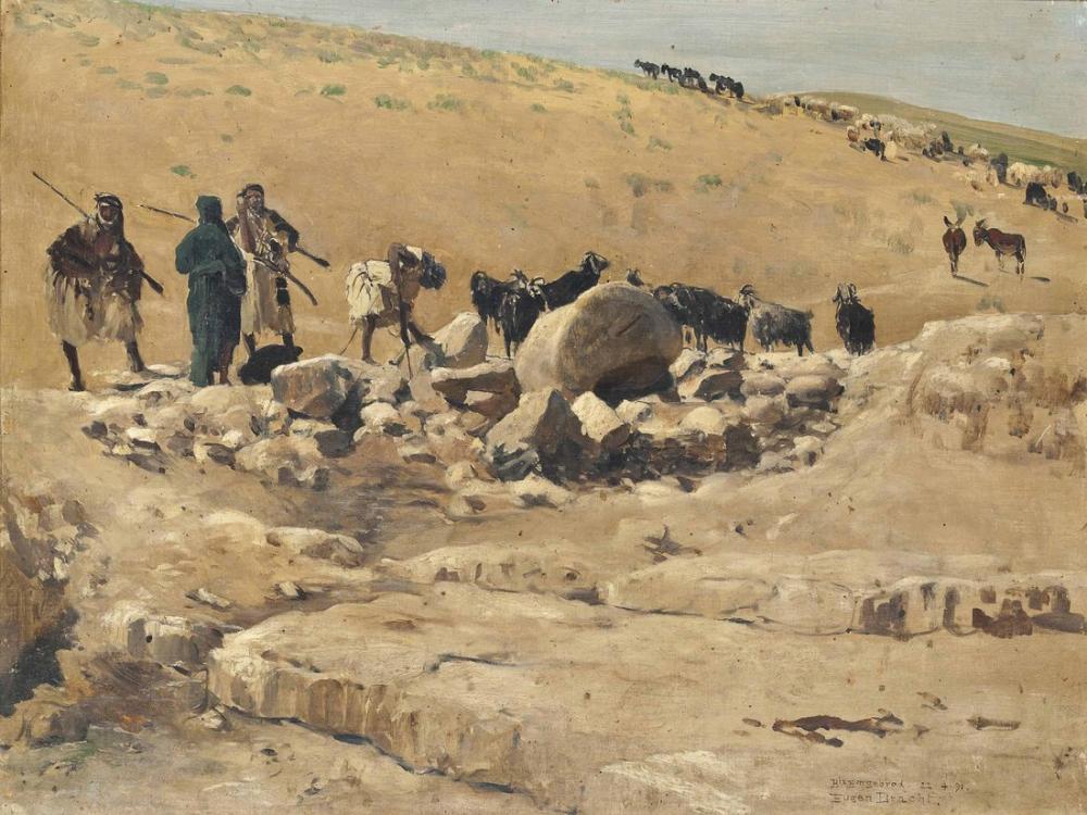 Eugen Bracht Bir Emgehrad Syria, Kanvas Tablo, Eugen Bracht, kanvas tablo, canvas print sales