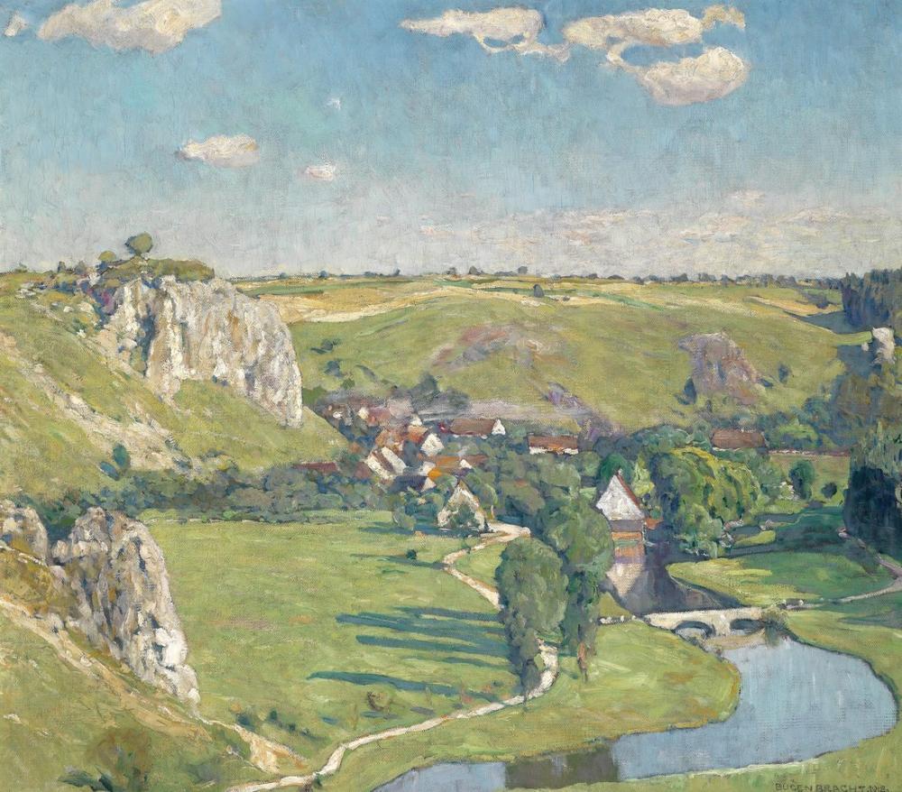 Eugen Bracht Svabya Köyü, Kanvas Tablo, Eugen Bracht, kanvas tablo, canvas print sales