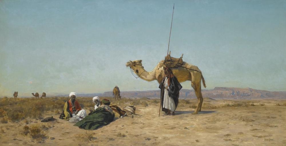 Eugen Bracht Suriye Çölünde Dinlenin, Kanvas Tablo, Eugen Bracht, kanvas tablo, canvas print sales