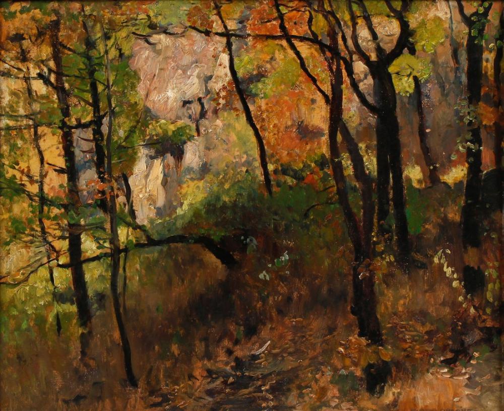 Eugen Bracht Autumn, Canvas, Eugen Bracht, kanvas tablo, canvas print sales