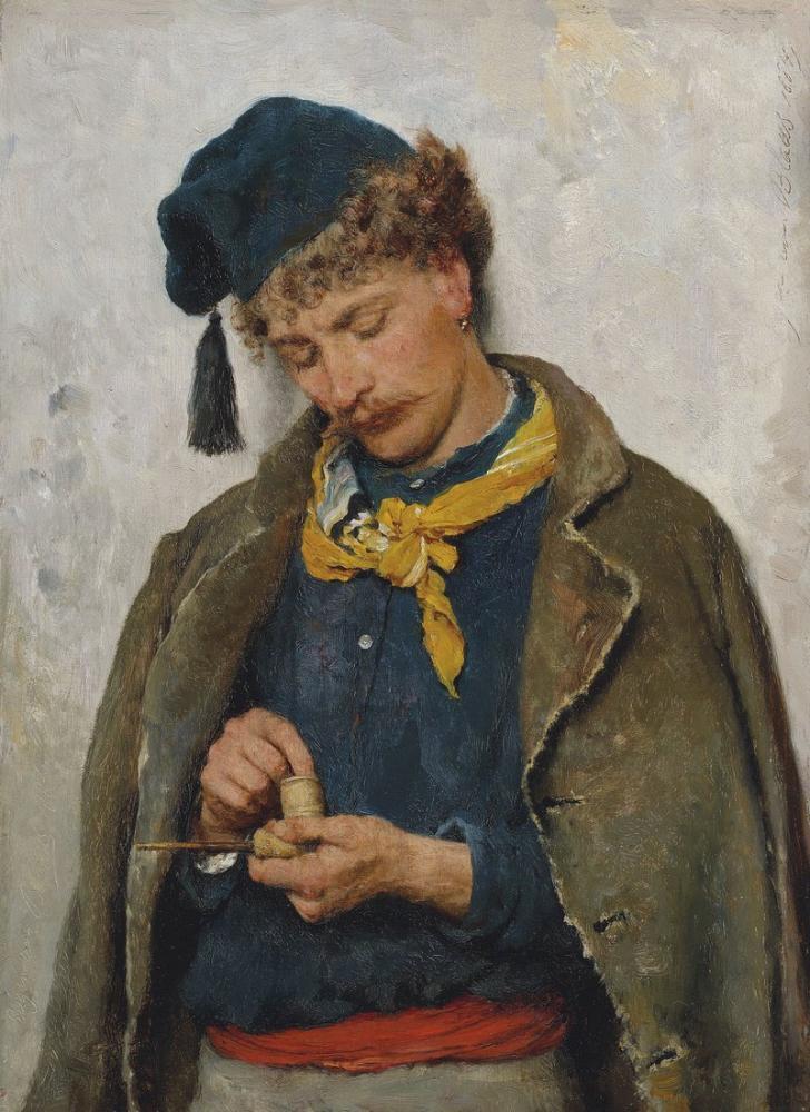 Eugene de Blaas A Soldier, Canvas, Eugene de Blaas, kanvas tablo, canvas print sales