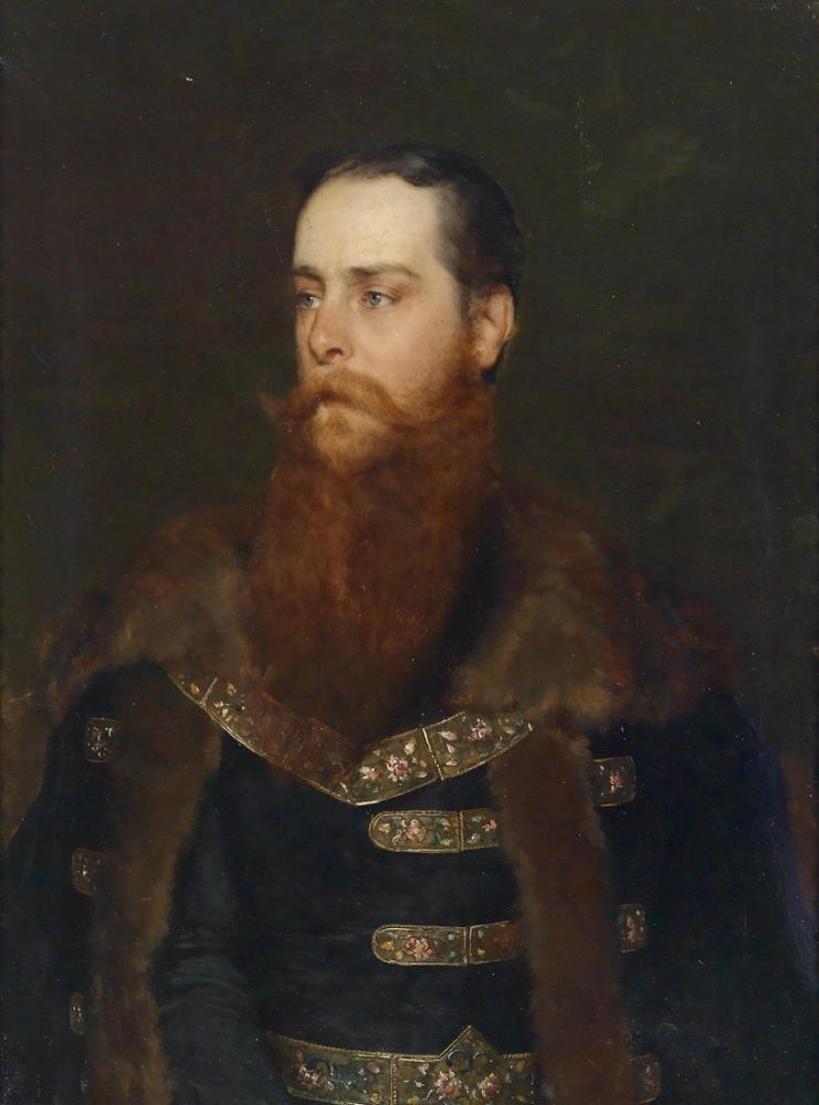 Eugene de Blaas Bildnis Arthur Graf Berchtold, Canvas, Eugene de Blaas, kanvas tablo, canvas print sales
