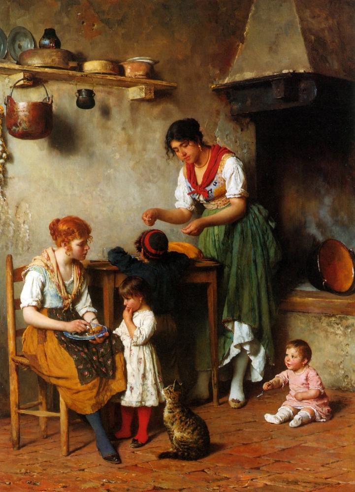Eugene de Blaas Bir Yardım Eli, Kanvas Tablo, Eugene de Blaas, kanvas tablo, canvas print sales