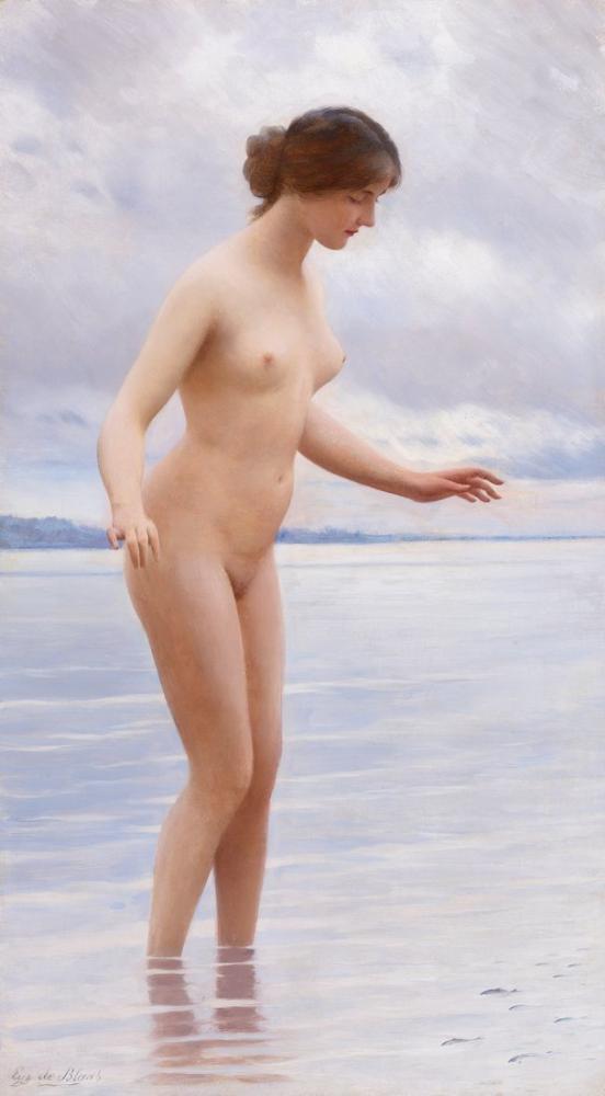 Eugene de Blaas In The Water, Canvas, Eugene de Blaas, kanvas tablo, canvas print sales
