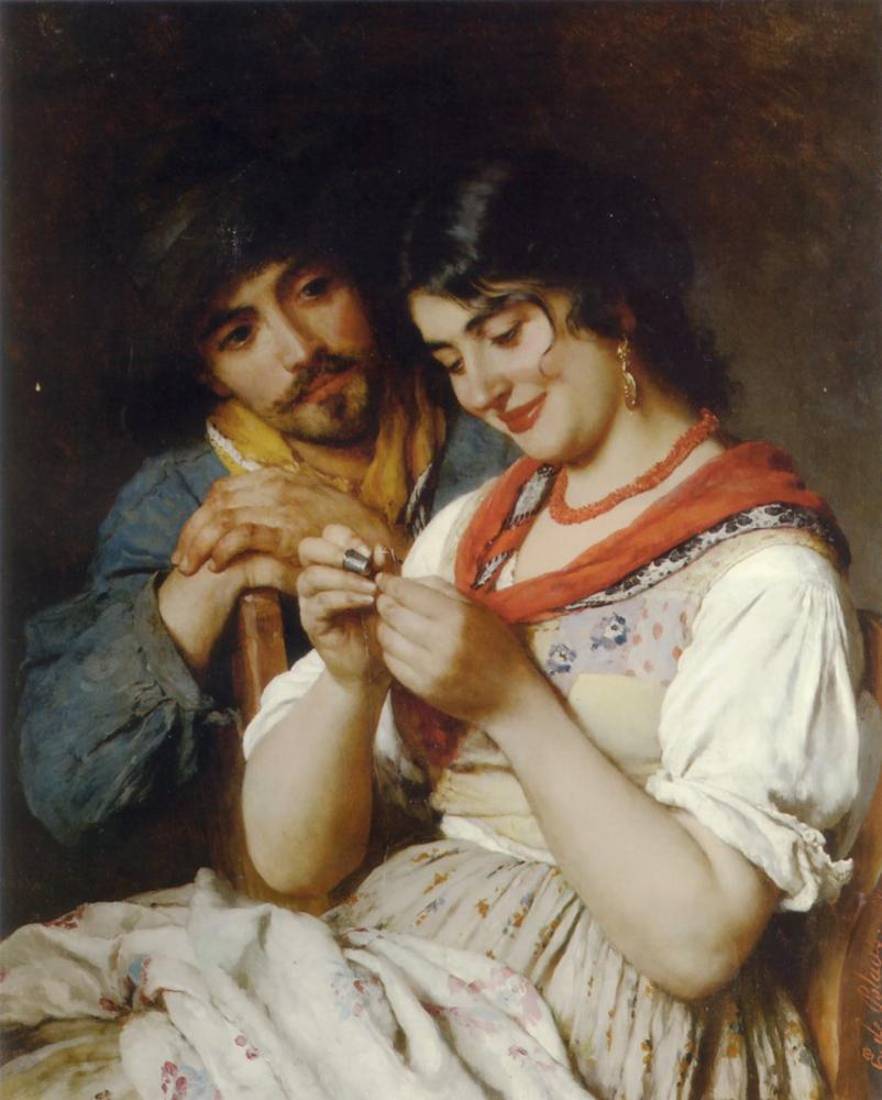 Eugene de Blaas Terzi, Kanvas Tablo, Eugene de Blaas, kanvas tablo, canvas print sales