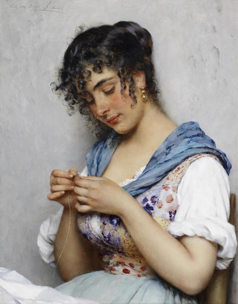 Eugene de Blaas İtalyan Terzi, Kanvas Tablo, Eugene de Blaas, kanvas tablo, canvas print sales