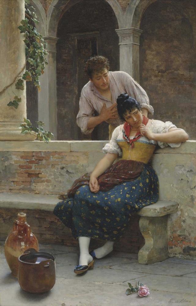 Eugene de Blaas The Proposal, Canvas, Eugene de Blaas, kanvas tablo, canvas print sales