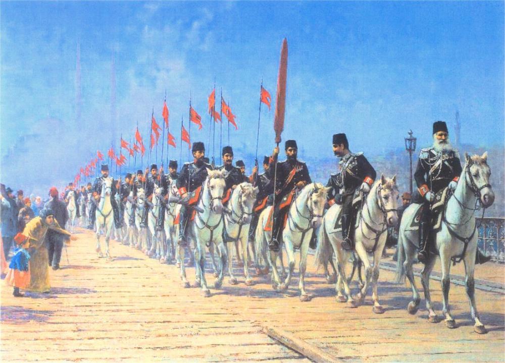 Fausto Zonaro Ertugrul Cavalry Regiment, Canvas, Fausto Zonaro, kanvas tablo, canvas print sales