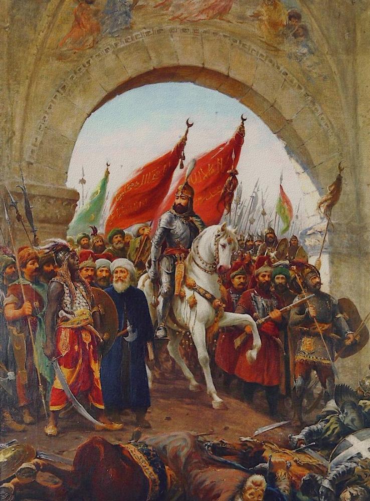 Fausto Zonaro Fatih Sultan Mehmed İstanbul Girişi, Kanvas Tablo, Fausto Zonaro, kanvas tablo, canvas print sales