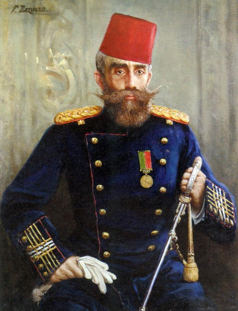 Fausto Zonaro Portrait Of Mahmud Sevket Pasha, Canvas, Fausto Zonaro, kanvas tablo, canvas print sales