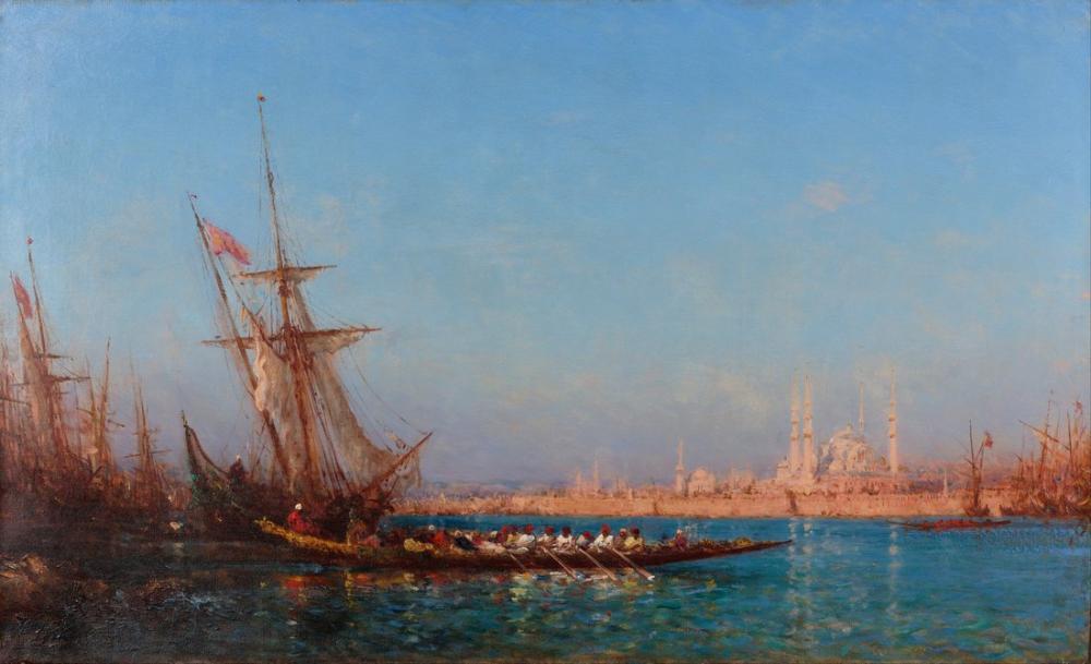 Félix Ziem İstanbul Manzarası, Oryantalizm, Félix Ziem, kanvas tablo, canvas print sales