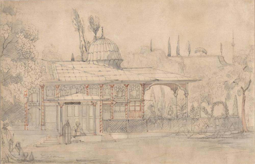 Félix Ziem Pavilion Near A Mosque, Orientalism, Félix Ziem, kanvas tablo, canvas print sales