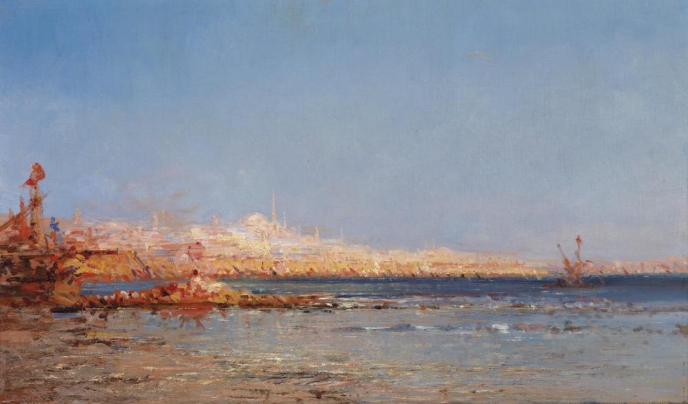 Félix Ziem View Of Constantinople, Canvas, Félix Ziem, kanvas tablo, canvas print sales