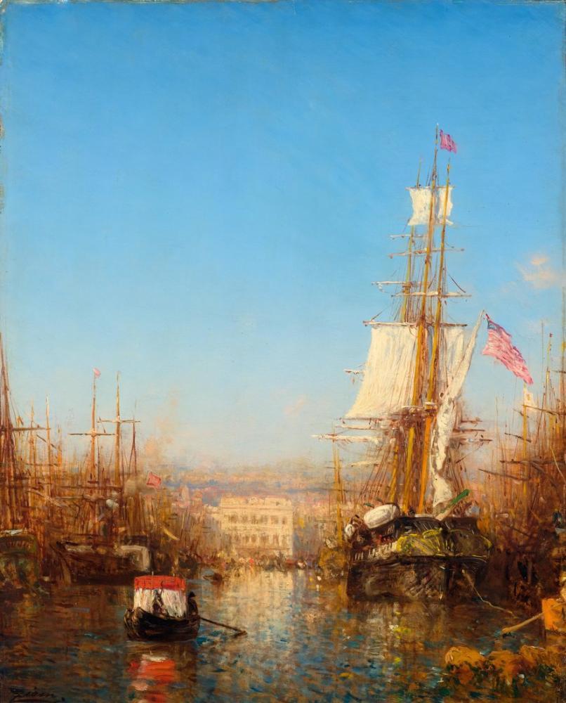 Félix Ziem Marsilya Limanı, Kanvas Tablo, Félix Ziem, kanvas tablo, canvas print sales