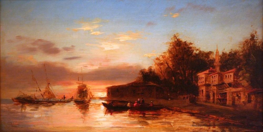 Félix Ziem İstanbul Manzarası II, Oryantalizm, Félix Ziem, kanvas tablo, canvas print sales