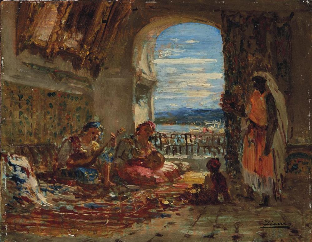 Félix Ziem Femmes Au Serail, Orientalism, Félix Ziem, kanvas tablo, canvas print sales