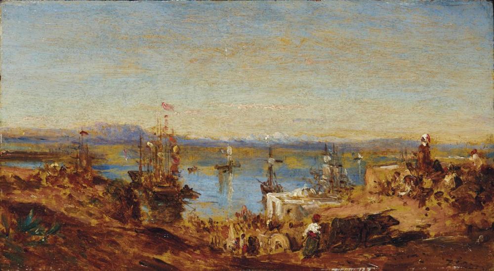 Félix Ziem Yükseklerde Alger, Kanvas Tablo, Félix Ziem, kanvas tablo, canvas print sales