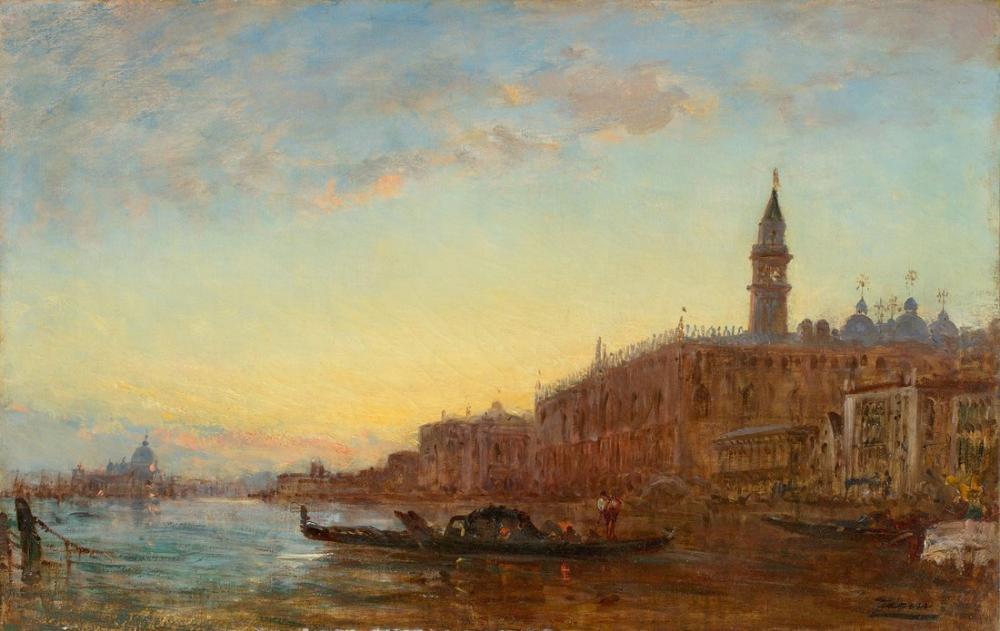 Félix Ziem Canal Grande In Venice, Canvas, Félix Ziem, kanvas tablo, canvas print sales