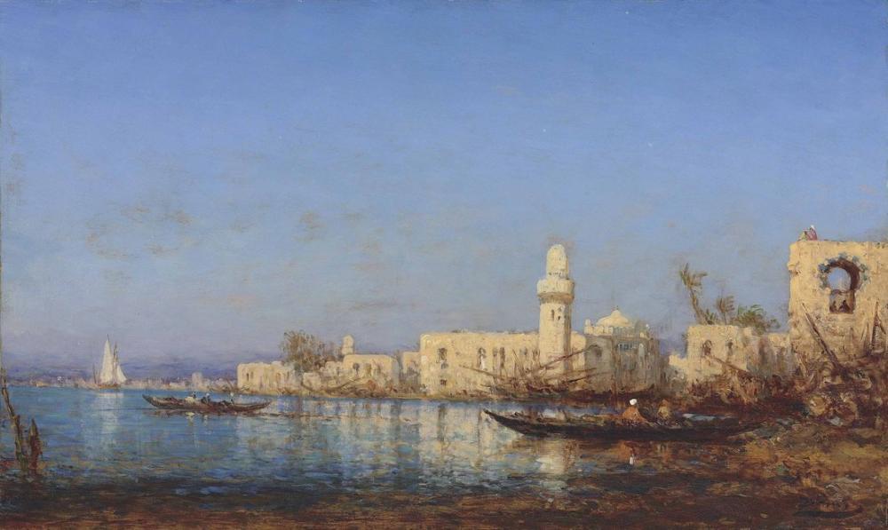 Félix Ziem Afrika Çıkışlı Trablus, Oryantalizm, Félix Ziem, kanvas tablo, canvas print sales