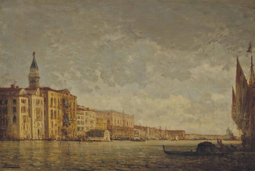 Félix Ziem Venedik Büyük Kanal Girişi, Kanvas Tablo, Félix Ziem, kanvas tablo, canvas print sales