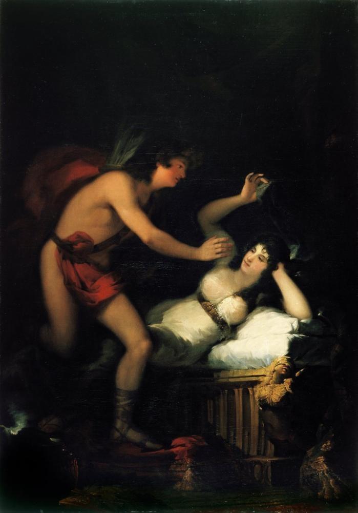 Francisco Goya, Aşk Tanrısı Ve  Peri Kızı Alegori, Kanvas Tablo, Francisco Goya, kanvas tablo, canvas print sales