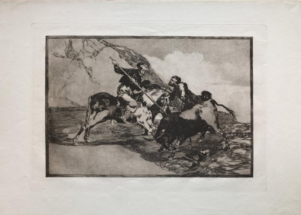 Francisco Goya, Bullfights The Way In Which The Ancient Spaniards Hunted Bulls On Horseba, Canvas, Francisco Goya, kanvas tablo, canvas print sales