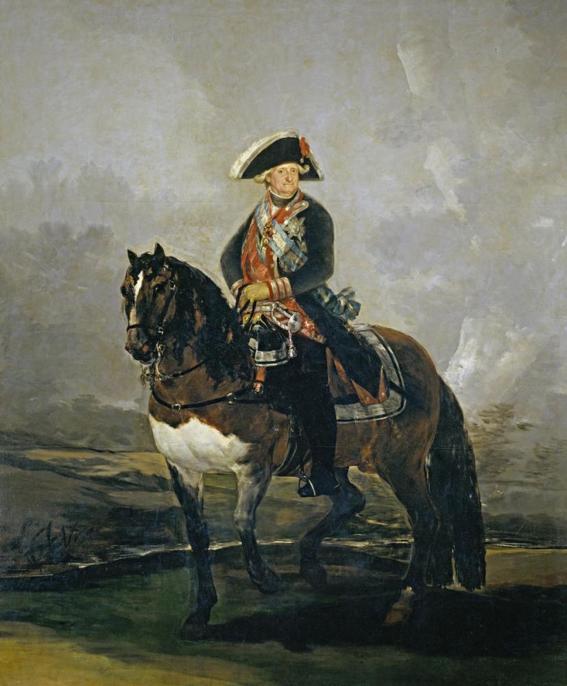 Francisco Goya, Carlos IV At Sırtında, Kanvas Tablo, Francisco Goya, kanvas tablo, canvas print sales
