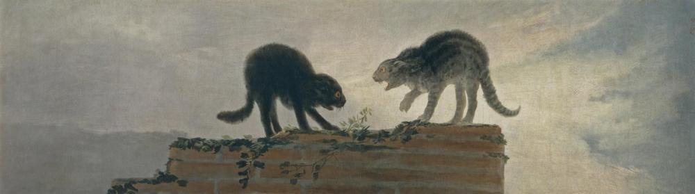 Francisco Goya, Kedi Dövüşü, Kanvas Tablo, Francisco Goya, kanvas tablo, canvas print sales