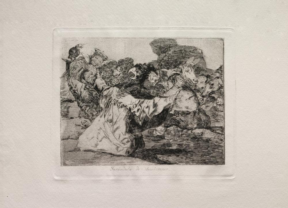 Francisco Goya, Şarlatan ın Şovu, Figür, Francisco Goya, kanvas tablo, canvas print sales
