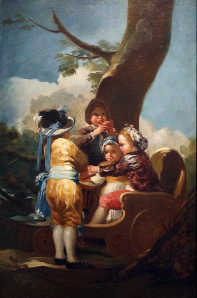 Francisco Goya, Şapkalı Çocuklar, Kanvas Tablo, Francisco Goya, kanvas tablo, canvas print sales