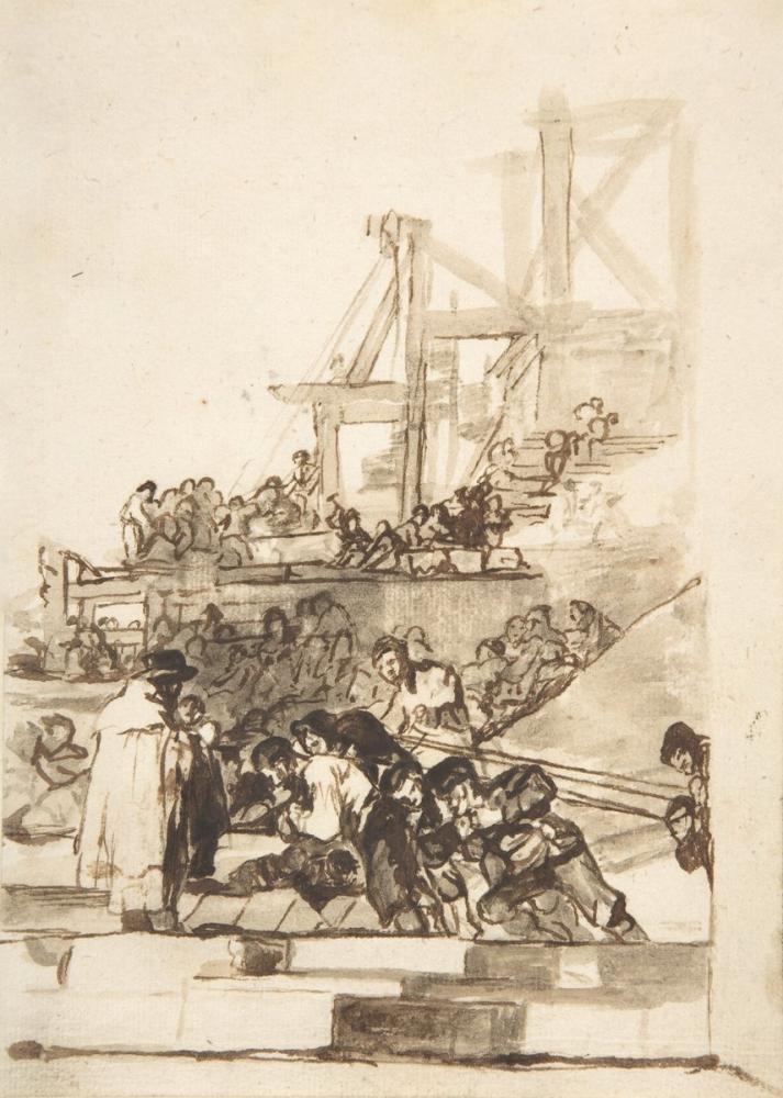Francisco Goya, Construction In Progress, Figure, Francisco Goya, kanvas tablo, canvas print sales