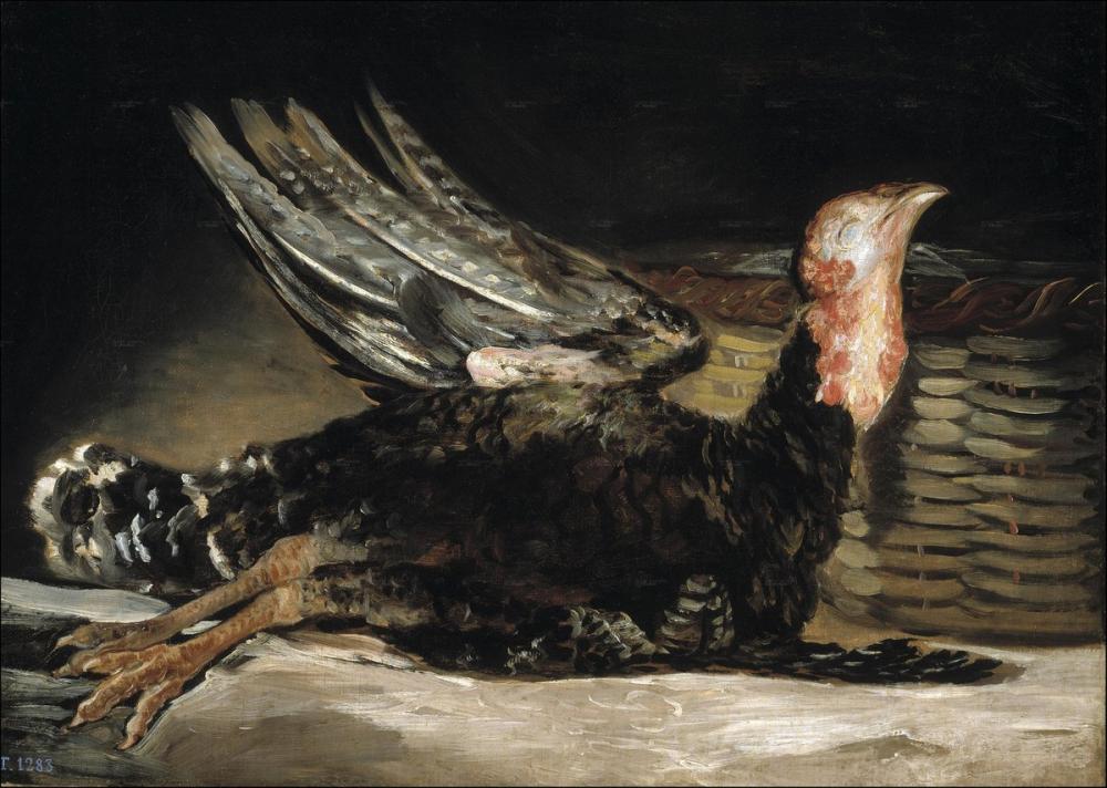 Francisco Goya, Ölü Hindi, Kanvas Tablo, Francisco Goya, kanvas tablo, canvas print sales