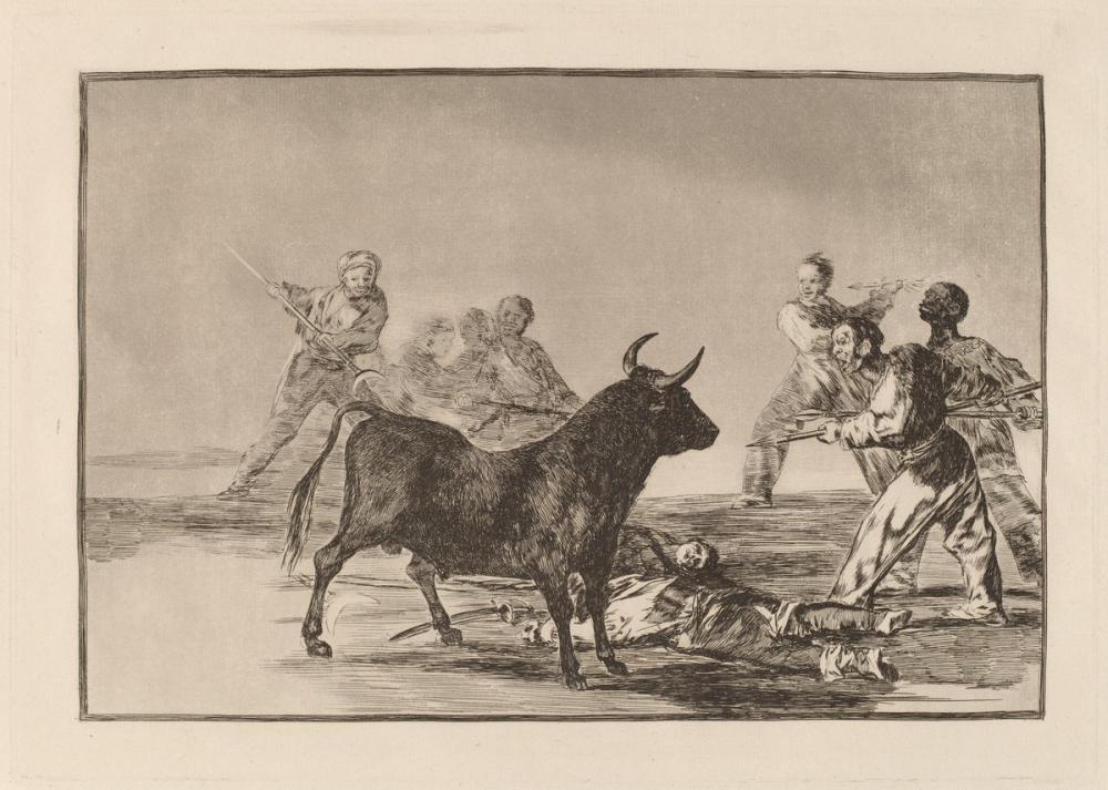 Francisco Goya, Desjarrete De La Canalla Con Lanzas Medias Lunas Banderillas Otras Armas, Canvas, Francisco Goya, kanvas tablo, canvas print sales
