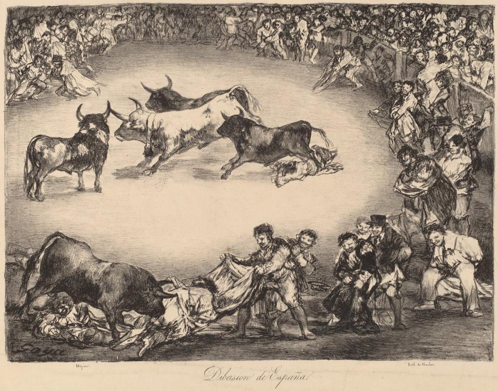Francisco Goya, Spanish Entertainment, Canvas, Francisco Goya, kanvas tablo, canvas print sales