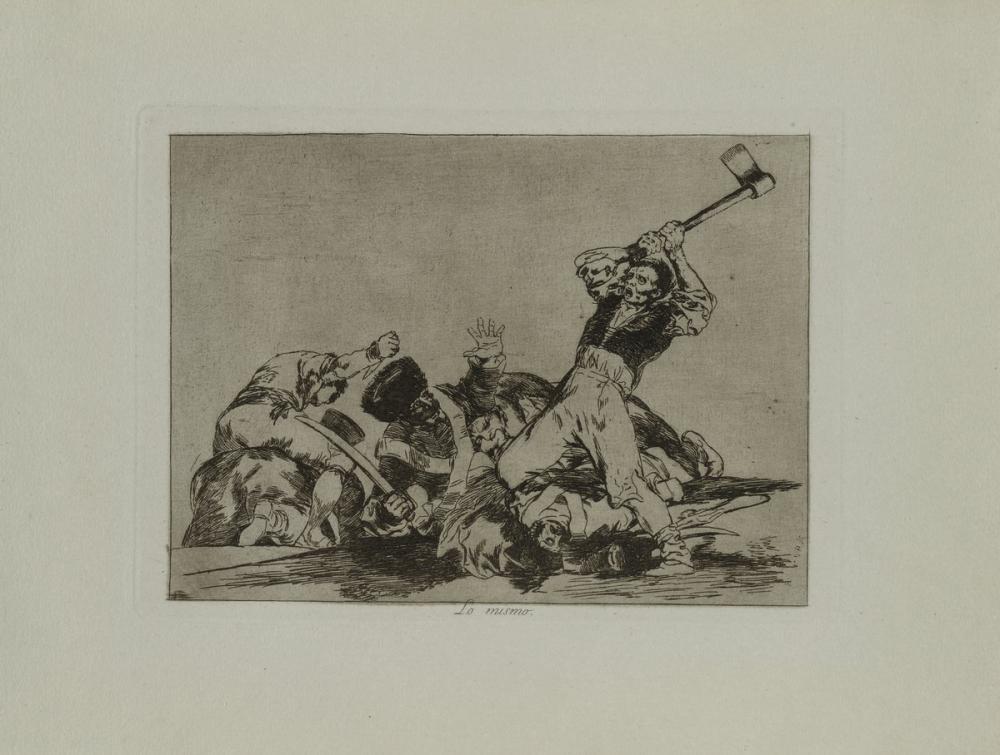 Francisco Goya, Savaş Afetleri Pl Aynı şey, Figür, Francisco Goya, kanvas tablo, canvas print sales