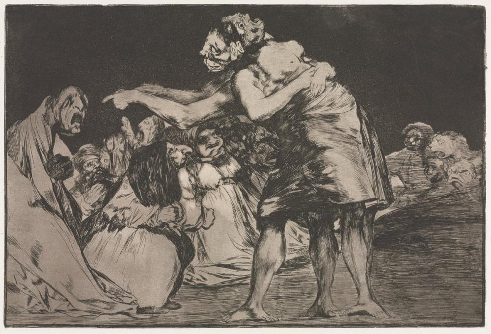 Francisco Goya, Dağınık Ateş, Figür, Francisco Goya, kanvas tablo, canvas print sales