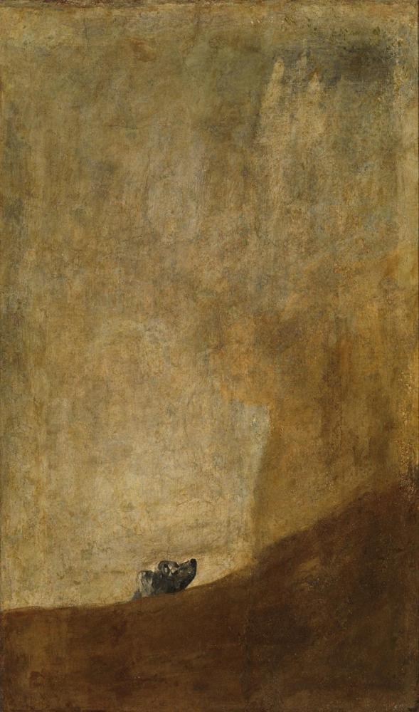 Francisco Goya, Köpek, Kanvas Tablo, Francisco Goya, kanvas tablo, canvas print sales