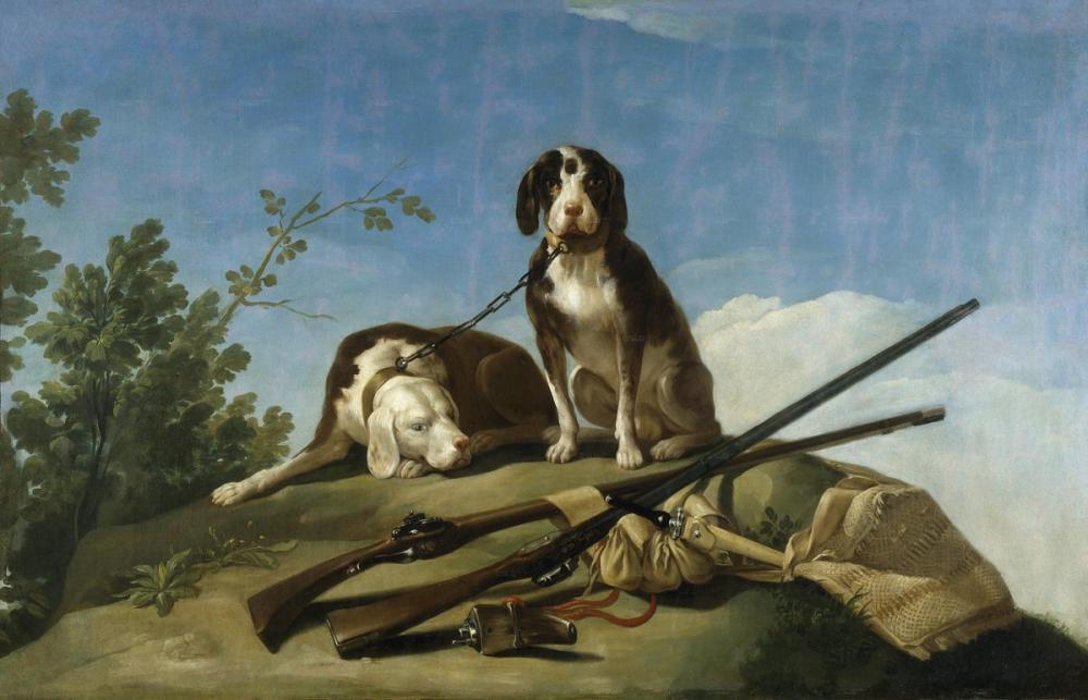 Francisco Goya, Köpekler Ve Av Araçları, Kanvas Tablo, Francisco Goya, kanvas tablo, canvas print sales