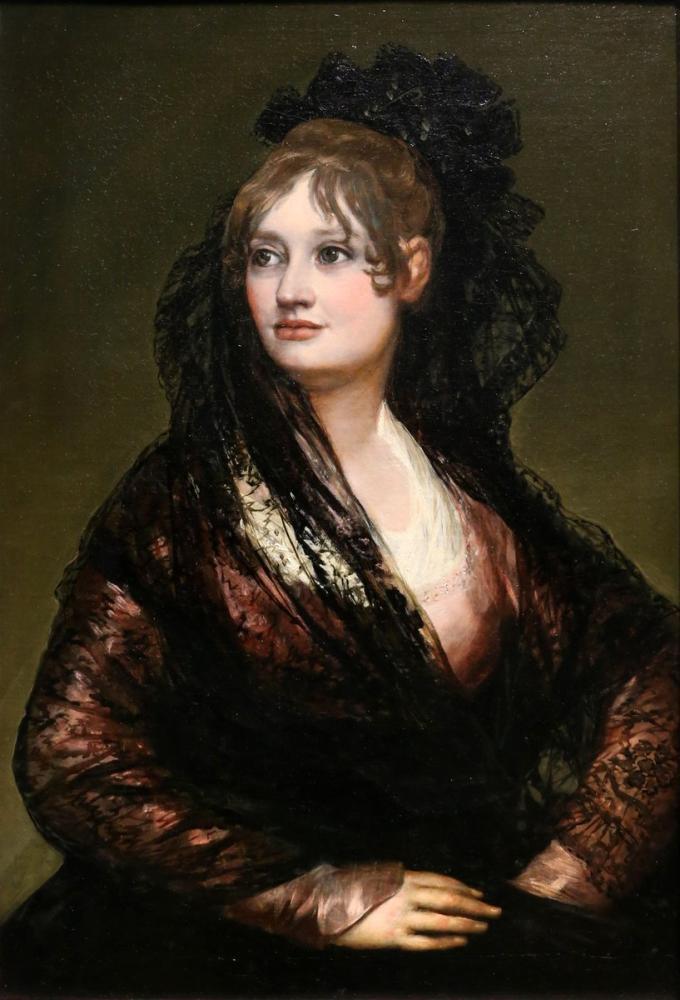 Francisco Goya, Doña Isabel de Porcel Ante, Kanvas Tablo, Francisco Goya, kanvas tablo, canvas print sales