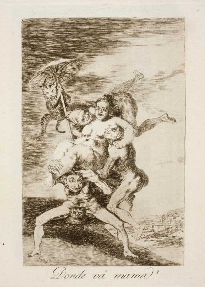 Francisco Goya, Where Is Mom Going, Figure, Francisco Goya, kanvas tablo, canvas print sales