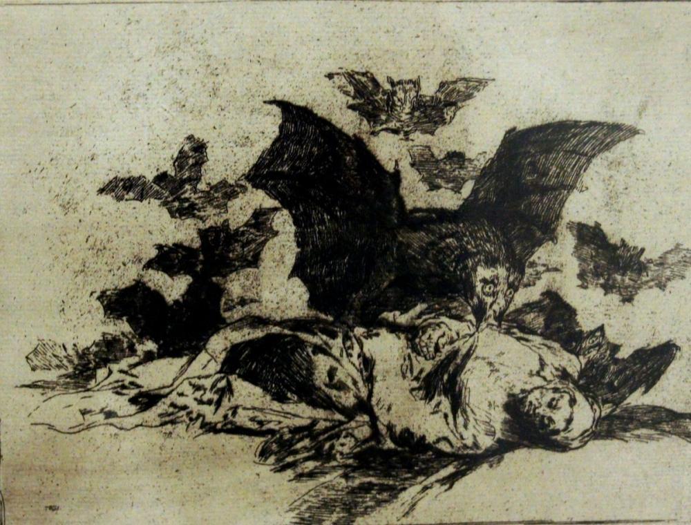 Francisco Goya, Drakula Öldü Ve Açılışını Çok Seviyor, Figür, Francisco Goya, kanvas tablo, canvas print sales