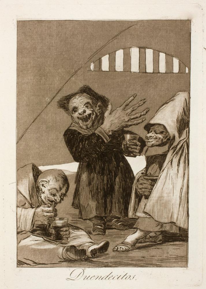 Francisco Goya, Duendecitos, Figure, Francisco Goya, kanvas tablo, canvas print sales