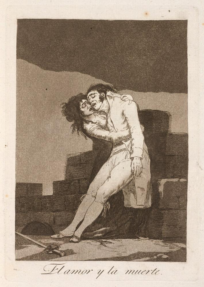 Francisco Goya, Love And Death, Canvas, Francisco Goya, kanvas tablo, canvas print sales