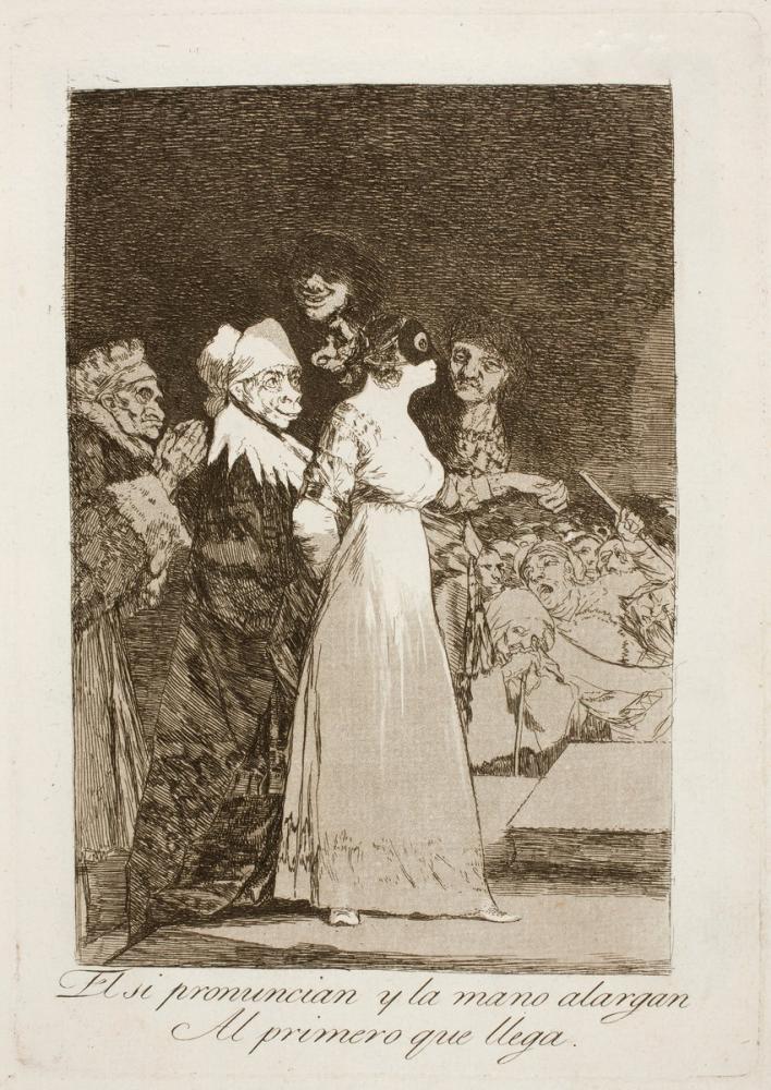 Francisco Goya, Ederlerse Ve El Uzatırsa Gelen İlk El Uzatır, Figür, Francisco Goya, kanvas tablo, canvas print sales