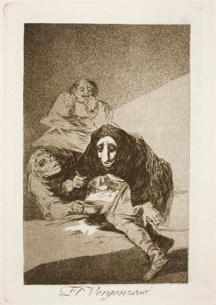 Francisco Goya, El Vergonzoso, Figure, Francisco Goya, kanvas tablo, canvas print sales