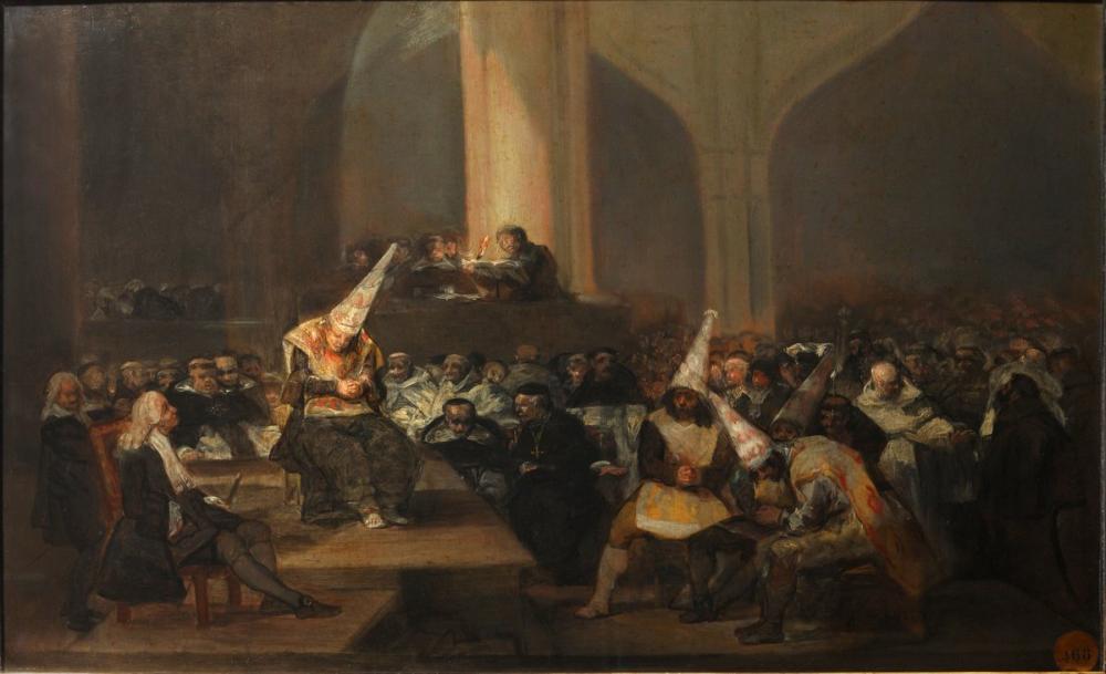 Francisco Goya, Escena de Inquisición, Canvas, Francisco Goya, kanvas tablo, canvas print sales