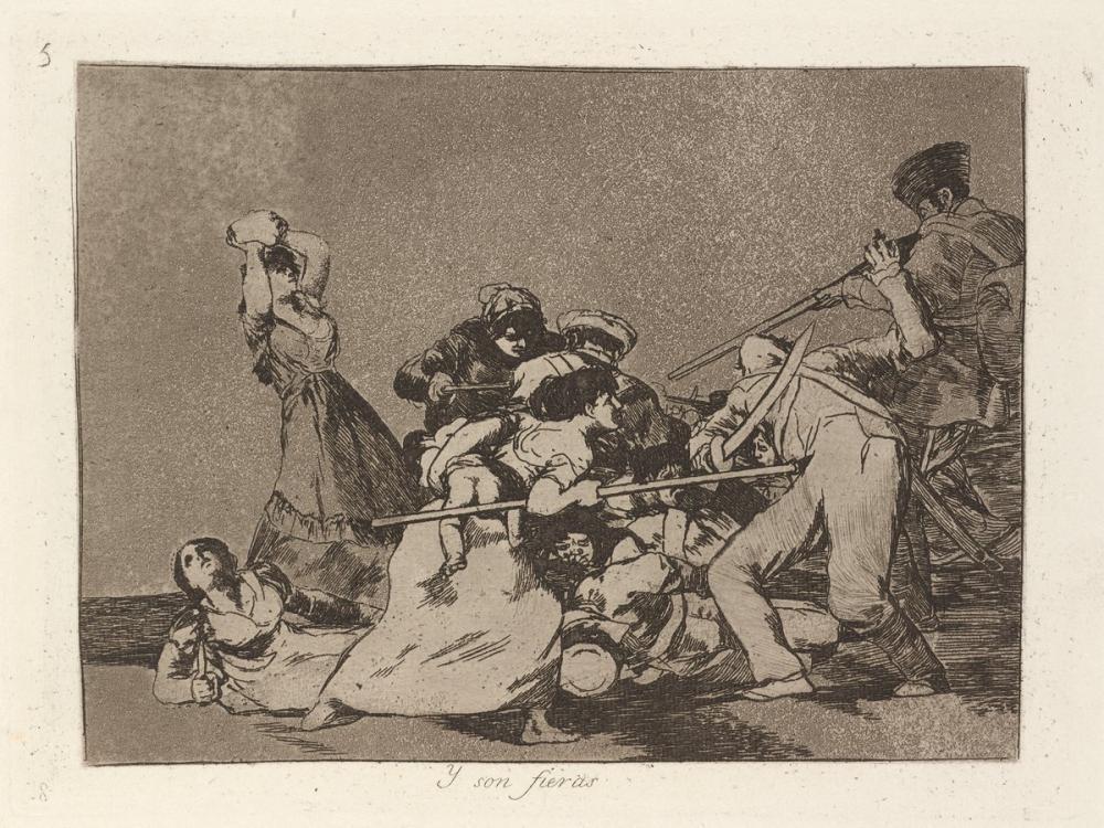 Francisco Goya, And They Are Like Wild Beasts, Figure, Francisco Goya, kanvas tablo, canvas print sales